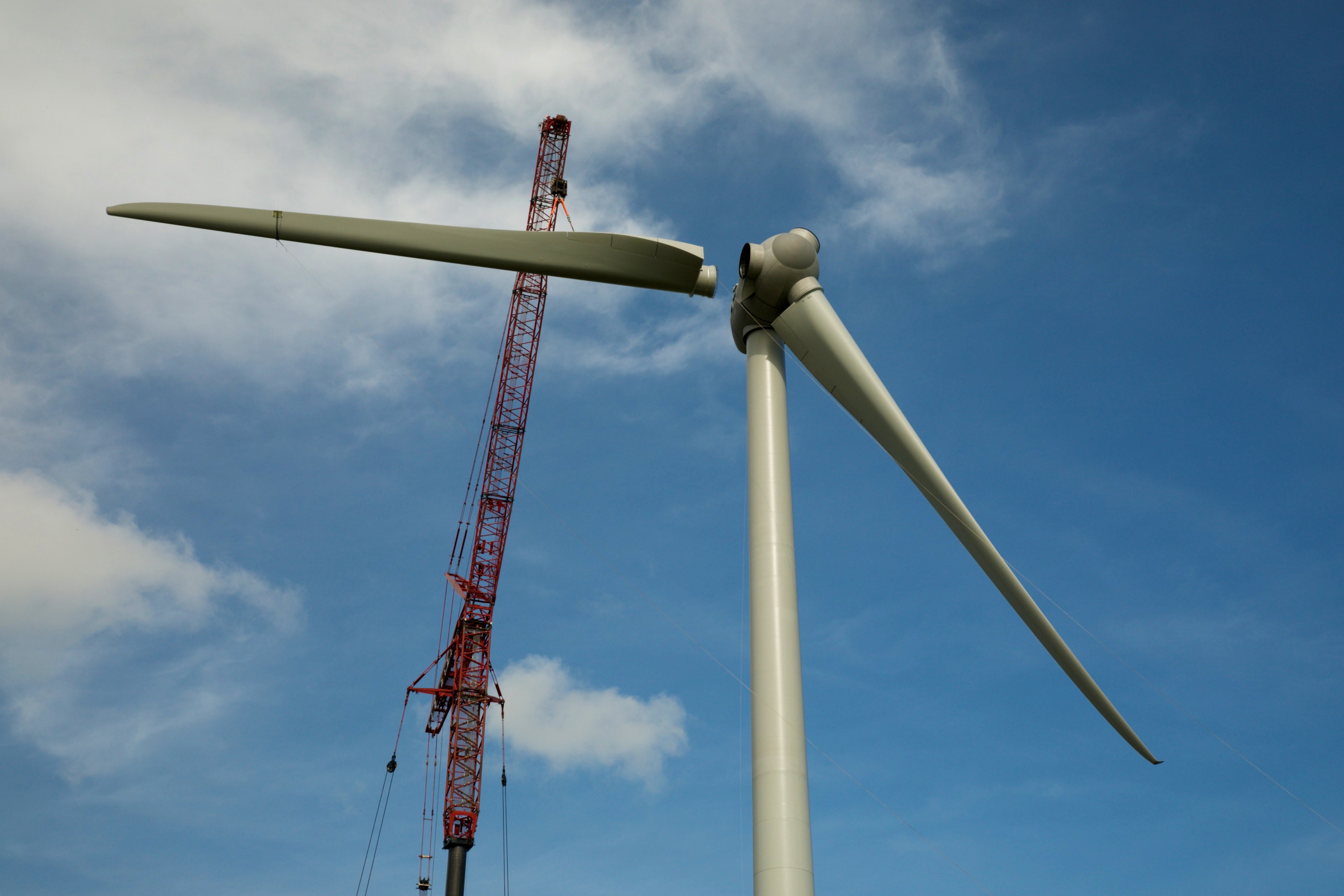 Renewable Energy Wind Turbine Construction Photography Service