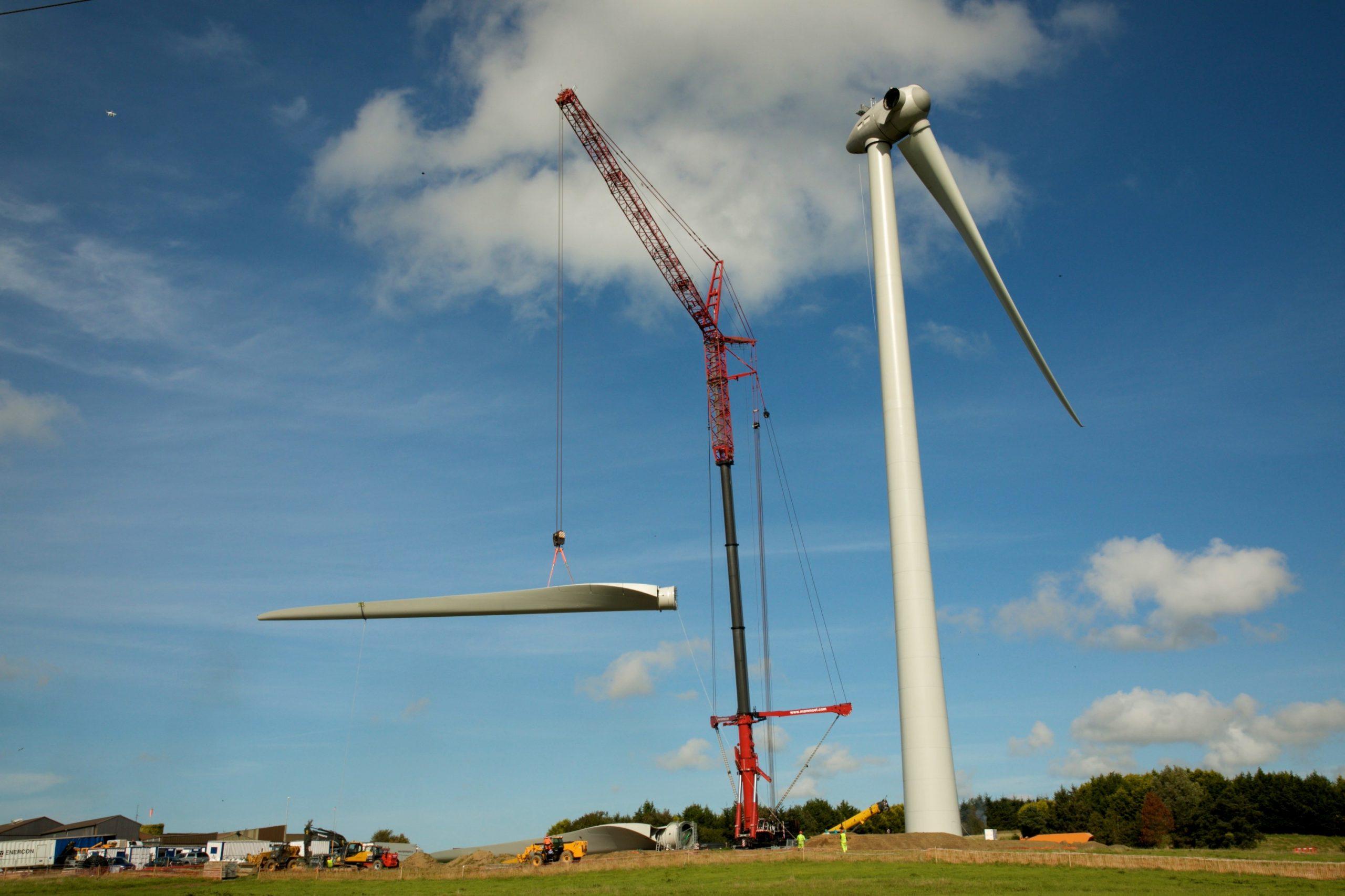 Wind Farm Construction Photo Dublin Ireland
