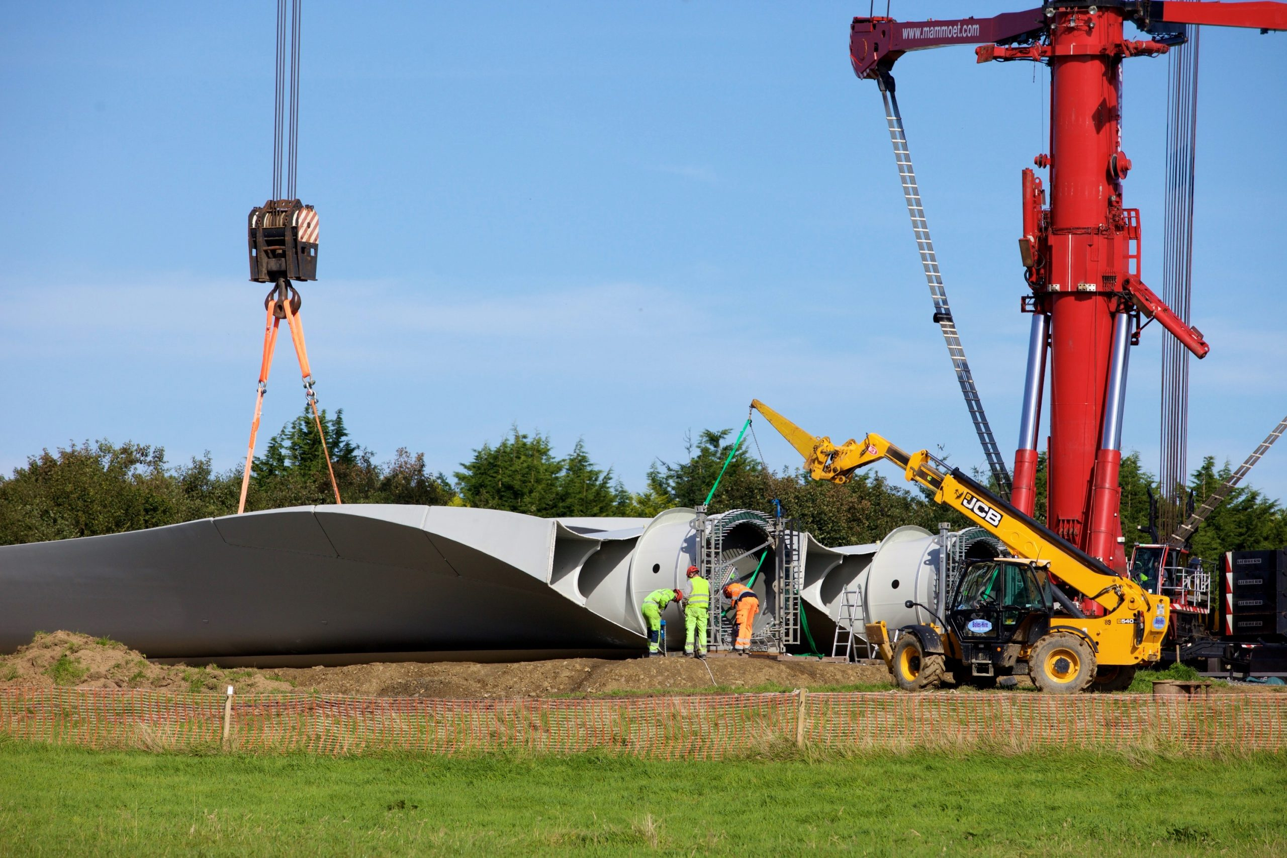 Renewable Energy Wind Turbine Construction Photographic Dublin Ireland