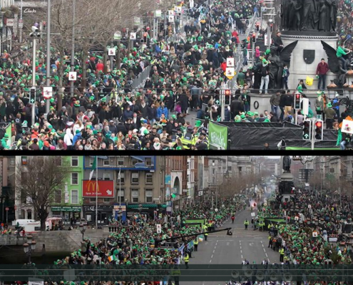 St Patrick's Day time-lapse