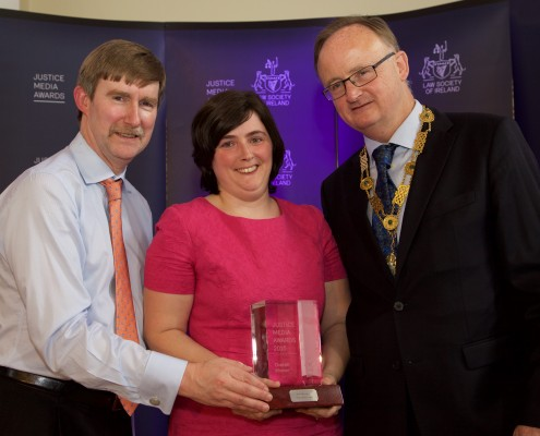 Winner of the 2015 Justice Media Overall Award, Ann Murphy of the Evening Echo