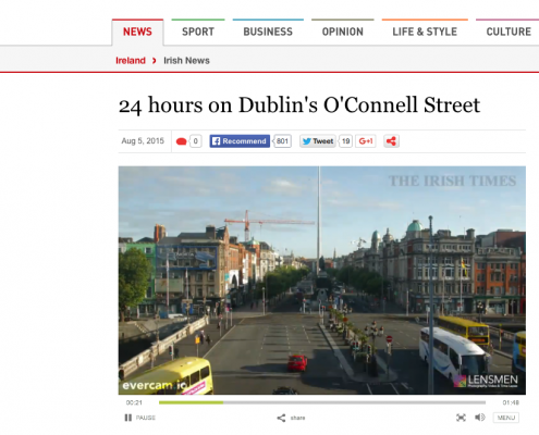 Time-lapse Photography of Construction Projects in Dublin, Ireland.