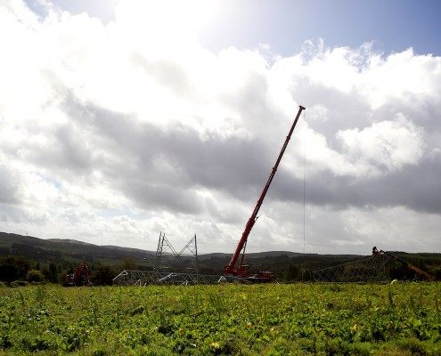 Time-lapse of High Voltage Pylons Photographic in Kilkenny, Leinster, Ireland