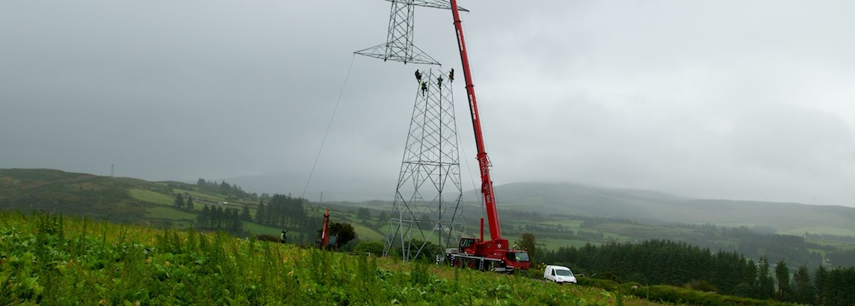 Time-lapse of High Voltage Pylons Photography in Munster.
