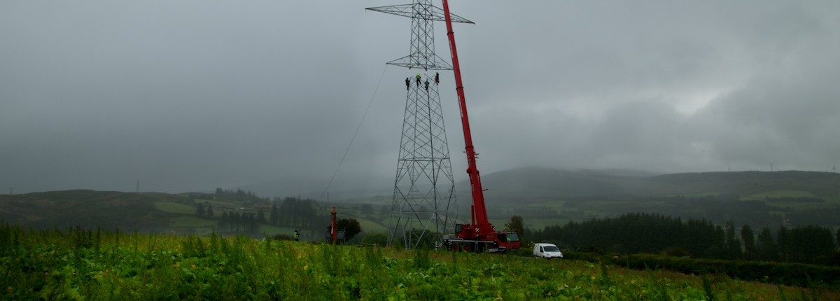 Time-lapse Electric Transmission Tower Photos in Munster, Ireland.
