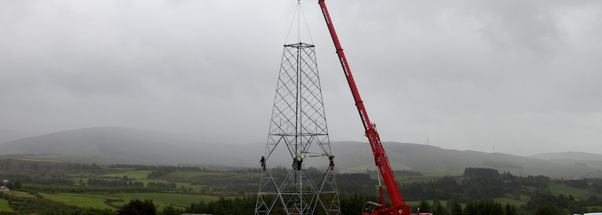 Time Lapse of Electrical Pylon Photographer in Munster, Ireland.