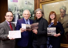 "14th December 2014:  Abbey Theatre Minute Books 1904-1939. launched online today  Pictured today at the digital launch of the Abbey Theatre Minute Books 1904-1939 were Prof Patrick Lonergan, NUI Galway; John McNamara, Chair, Galway University Foundation; Fiach MacConghail, Director, Abbey Theatre; and Dr Charlotte McIvor, NUI Galway.   The minute books are the first online content to be made available to the public by the Abbey Theatre/NUI Galway Digital Archive Partnership.   They cover the period during which Lady Gregory and W.B. Yeats managed the Abbey Theatre and offer  us fascinating behind the scenes glimpses of the theatre at the time.   People can view the minute books at www.nuigalway.ie/abbeytheatreminutebooks    Abbey Theatre Minute Books Revealed For First Time.  Abbey Theatre/NUI Galway Digital Archive Partnership makes content from years 1904 – 1939 available online to the public.   -Offering fascinating behind the scenes views of the Abbey Theatre during the years of W.B. Yeats's involvement in the theatre.  -Insight into leading figures from Irish Literary Revival -The struggle for funding -Insights into a pre and post-independence Ireland   Monday, 14 December, 2015: As the Yeats 2015 celebrations draw to a close, a most fitting unveiling will take place today (Monday 14 December) as the Abbey Theatre Minute Books will be made available to the public for the first time on a new website. Collectively, the minute books amount to nearly 1,000 pages, covering some of the Abbey's most significant events from the period 1904-1939.  These minute books are now being published as part of the Abbey Theatre and NUI Galway Digital Archive Partnership (2012-2015).    A Digital Journey Through Irish Theatre History, the Abbey Theatre - NUI Galway Digital Archive Partnership is the largest digital theatre project ever undertaken, and heralds a new era in Irish theatre scholarship, both nationally and internationally. Previously unseen, the Abbey Theatre Minute Books date from 1904 to 1939 and include the period in history when both Lady Gregory and W.B. Yeats were involved in the management of the Abbey Theatre.  The Abbey Theatre minute books contain notes from meetings of the theatre's Board of Directors. They offer a fascinating glimpse behind the scenes of the theatre, showing how the Abbey's managers dealt with a variety of issues, from choosing plays to determining how much to pay their actors.   Along the way, we find important information about leading figures from the Irish Literary Revival and beyond: not just W. B. Yeats, Lady Gregory and John Millington Synge but Sean O'Casey, Lennox Robinson, Teresa Deevy, Sean O'Faolain, Frank O'Connor, and many others. We also learn about great Irish actors such as Molly Allgood, Ria Mooney, Barry Fitzgerald, Cyril Cusack and many more.   NUI Galway Professor of Drama Patrick Lonergan said that the minute book will be of huge interest to theatre scholars, historians, and anyone with an interest in Irish culture: ""the story of the Abbey Theatre is in many ways the story of our nation in microcosm. This online resource shows the Abbey Theatre and NUI Galway working together to reveal new aspects of that theatre's story – and, by extension, new aspects of the story of Ireland. Users of the site will be able to search easily through hundreds of pages of records, and can move between the handwritten originals and carefully transcribed webpages. And all of this is available entirely free of charge to readers anywhere in the world.""   The minute books allow us to understand better how theatres are run. Yeats wrote about his approach to theatre business in a poem that was tellingly called ""The Fascination of What's Difficult"", cursing ""plays/ that have to be set up in fifty ways"". Here we find Yeats encountering all sorts of difficulties - from the threat of government censorship of Sean O'Casey's The Plough and the Stars in 1926 to the leaking of his late play Purgatory to a Jesuit priest in 1938. And those difficulties are indeed fascinating.   We also learn much about the day to day activities of keeping a theatre in business: the struggles to find appropriate funding, the actors' requests for extra money or time off, and the maintenance of the building.   And of course we learn much about Ireland, both before and after independence. The Abbey Theatre famously was the first state-subsidised theatre in the English-speaking world, earning funding in 1925 from the newly independent Irish Free State.   Bryan McMahon, Chairman of the Abbey Theatre said:  ""The Abbey Theatre is proud to reveal, for the first time, our early Minute Books, an exciting milestone in our ground-breaking digital archive partnership with NUI Galway.   It is wonderful to manifest digitally the inner workings of the national theatre during its formative years.  These Minute Books give us fascinating insights into the management style and business acumen of W.B. Yeats and Lady Gregory and the contribution made by the Board of Directors.  Indeed, the Minute Books reveal that Yeats was so integral to the Abbey Theatre, that Lennox Robinson, playwright and Board member, was dispatched to France to assist in the repatriation of his remains.  As we all know, it was an unsuccessful mission.  The Abbey Theatre is delighted that in this Yeats' commemorative year, the full story of W.B. Yeats as theatre maker can be fully revealed.""  In total, the Abbey Theatre and NUI Galway are making available seven minute books, including:   •	1904-1905 – outlining the foundation of the theatre, its relationships with other theatres in Ireland, and its evolving approach to its actors and patron Annie Horniman. •	1908-1912. The book is primarily a record of plays to be performed as the theatre moves through the period. It also details actors' issues, training and staging practicalities.  •	1912-1939. This book contains minutes of the company's annual general meetings, and thus is different from the other publications, with some overlap in the minute books from 1929-39.  •	1925-1931 After a hiatus, the Abbey Theatre Board of Directors resumes taking minutes in 1925, following the Free State government's decision to fund the theatre. A central topic of debate here is the fate of Sean O'Casey's The Plough and the Stars.  •	1932-1936. The theatre grapples with ongoing financial difficulties, responds to the death of Lady Gregory, and its actors are offered the opportunity to make movies in Hollywood. Ernest Blythe formally joins the Board.  •	1936 to 1937. While covering a relatively short period, this minute book gives a fascinating account of the Abbey's relationship with Teresa Deevy. We also find growing tensions between the Board and the Abbey company of actors.  •	1937 to 1939. Dominated by negotiations with the Irish government for the creation of a new theatre, which would house the Abbey Theatre and Gate Theatre (the outbreak of war in 1939 meant that this plan was never completed). Also notable here is the production of Yeats's final plays, in particular the controversial Purgatory, which appeared at the Abbey Theatre Festival in 1938.    This is a major milestone in this ground-breaking digitisation project which has brought the most advanced digital technology to bear on one of the world's most historic theatre archives. The unprecedented access to the historic material enabled by its digitisation has far reaching benefits for students and researchers of the University. The unveiling of the Abbey Theatre Minute Books goes one step further, bringing this project to a public audience for the first time.   ENDS  For further media information:  Michelle Ní Chróinín NUI Galway M:  087 902 5383			 E:  michelle.nichroinin@nuigalway.ie  Mary Folan Abbey Theatre						 M: 087 7376288 E: mary.folan@abbeytheatre.ie 		   About the NUI Galway – Abbey Theatre Digitisation Project The Abbey Theatre Archive, which contains over 1 million items, is one of the world's most significant archival collections. It has a wealth of extraordinary and unique material providing a fascinating insight into Irish theatre, history, culture and society. The archival material ranges from show posters, programmes, photographs, minute books to lighting plans, set and costume designs, sound cues, prompt scripts and audio files.   The NUI Galway-Abbey Theatre digitisation project is unique in that it highlights two of the most important features of contemporary Ireland: the richness of its cultural traditions and its capacity for technological innovation.  NUI Galway is ideally positioned to capitalise on those strengths, as it brings both international expertise in Irish theatre and digital humanities to the project.   The digitised archive will change our understanding of Irish drama. The history of Irish drama is largely understood to be the history of Irish plays – of the written script. As a full multimedia archive, the digital archive will provide researchers with access to the complete range of materials associated with theatre performance: not just the scripts but also the visual materials (costume, set, and lighting designs), sound materials (music scores, sound effects), and the supporting materials (adverts, press releases, reviews).  The newly digitised Abbey Theatre Archive is a major addition to the existing collection of literary and cultural archives at NUI Galway. The archive collection at the University's James Hardiman Library comprises over 350 collections, dating from 1485 to the present. Theatre collections include the papers of Thomas Kilroy and the Shields Family Collection, featuring the Abbey actor Arthur Shields, and there is a particular focus on the archives of companies such as the Druid Theatre, Taibhdhearc na Gaillimhe and the Lyric Players Theatre in Belfast. A new Arts, Humanities and Social Sciences Research facility will open at the heart of the campus in 2013, providing the perfect home for this significant collection.  Students of the new undergraduate degree in Drama, Theatre and Performance at NUI Galway, as well as a new PhD programme in Irish Drama will encourage a new wave of young researchers from Ireland and abroad to come to Galway to learn about Yeats, Synge, Lady Gregory and the many other great writers associated with the Abbey. The University has also introduced two new fully-funded PhD fellowships dedicated to research in Irish Theatre to give an immediate boost to the research team working on the Archive project."