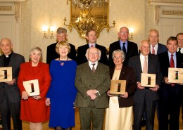 "Irish Abroad recognised at Presidential Distinguished Service Awards ceremony.    Pictured at the Presidential Distinguished Service Awards ceremony were: Back row: Fr. Brendan McBride (US), Taoiseach Enda Kenny, Minister for Foreign Affairs and Trade, Charles Flanagan, TD, and Minister for the Diaspora, Jimmy Deenihan, TD.  Tom Moran (US)   Front row: Solicitor Gareth Peirce, Fr. Donal Doyle (Japan), Maureen Murphy (US), Sabina Higgins, President Michael D Higgins, Sr. Dr Miriam Duggan (Kenya), Charles Handy (UK), Niall FitzGerald (UK), Mario Vargas Llosa (Peru)    British solicitor and human rights activist Gareth Peirce, Fr. Brendan McBride of the Irish Immigration and Pastoral Center in San Francisco and businessman and Chair of Concern Worldwide Tom Moran were amongst those honoured with the Presidential Distinguished Service Award for 2015 at a ceremony at Áras an Uachtaráin this evening (Thursday).  The Presidential Distinguished Service Award for the Irish Abroad honours the work of exceptional people who contribute to Ireland and to Irish communities abroad. The awards are organised by the Department of Foreign Affairs and Trade with nominations made by Irish communities abroad through Ireland's embassy network.   President Higgins this evening presented Awards for 2015 to Mario Vargas Llosa, Fr. Donal Doyle, Niall FitzGerald, Charles Handy, Sr. Dr Miriam Duggan, Fr. Brendan McBride, Maureen Murphy, Gareth Peirce, and Tom Moran. Gabriel Byrne, who could not be in attendance on the evening, was also honoured. The ceremony was attended by the Taoiseach Enda Kenny, Minister for Foreign Affairs and Trade, Charles Flanagan, TD, and Minister for the Diaspora, Jimmy Deenihan, TD.    Speaking in advance of the event, Minister Flanagan said:  ""I am delighted that the achievements of these ten remarkable people will be acknowledged by the President tonight.  Collectively, they have helped to build and expand our reputation around the globe. Their service and commitment to this country is a shining example to us all and I am delighted that they are being honoured by the President in such a fitting manner.""  ""This is the fourth year of the Presidential Distinguished Service Awards and it is an important acknowledgement by the President, on behalf of all of the people of Ireland, of the significant contribution of those honoured to Ireland and to Irish communities abroad.""  Minister for the Diaspora, Jimmy Deenihan added:  'As Minister for the Diaspora I am delighted that the achievements of our global family are being formally recognised tonight. These awards cover a number of diverse categories – from Arts, Culture and Sport; to Business and Education; to Irish Community Support – which reflects the remarkable and wide-ranging contribution of Irish people abroad to their diaspora communities.""  The recipients of 2015 Presidential Distinguished Service Awards are:  Arts, Culture and Sport Gabriel Byrne (US)  Mario Vargas Llosa (Peru)  Business and Education Fr. Donal Doyle (Japan) Niall FitzGerald (UK) Charles Handy (UK)  Charitable Works Sr. Dr Miriam Duggan (Kenya)  Irish Community Support Fr. Brendan McBride (US) Maureen Murphy (US)  Peace, Reconciliation and Development Gareth Peirce (UK) Tom Moran (US)  ENDS Department of Foreign Affairs and Trade Press Office 3 December 2015   Notes for Editors:    ·         The Presidential Distinguished Service Award for the Irish Abroad is neither an honours system nor does it confer any legal entitlements upon the recipients. ·         In order to be eligible for consideration, nominees must be habitually resident outside the island of Ireland and are required to satisfy the following additional requirements:  o        have rendered distinguished service to the nation and/or its reputation abroad;  o        have actively and demonstrably contributed to Ireland and/or its international reputation and/or Irish communities abroad in at least one of the categories listed above;  o        have a track record of sustained support and engagement with Ireland and/or its international reputation and/or Irish communities abroad over a period of not less than 5 years.  ·         The scheme is managed by the Department of Foreign Affairs and Trade and a High Level Panel was established to make recommendations to Government. This Panel includes: Mr Niall Burgess, Secretary General of the Department of Foreign Affairs and Trade (Chair), Mr Martin Fraser, Secretary General of the Department of the Taoiseach; Mr Art O'Leary, Secretary General to the President; and four representatives from the non-Government sector- Ms Sally O'Neill Sanchez, Prof Declan Kiberd, Mr Kingsley Aikins and Fr Bobby Gilmore.  ·         Nominations are made by Irish communities abroad through Ireland's network of Diplomatic Missions.    Short biographies of 2015 Recipients of the Presidential Distinguished Service Awards:   Arts, Culture and Sport  Gabriel Byrne (US) Mr. Byrne is a renowned actor. He has done sterling service as Cultural Ambassador for Ireland and continues to give generously of his time, particularly in supporting the Irish Arts Centre in NYC.   Mario Vargas Llosa (Peru) Mario Vargas Llosa is a Peruvian writer, politician, journalist, essayist, college professor, and recipient of the 2010 Nobel Prize in Literature. By writing 'The Dream of the Celt', Mario Vargas Llosa has opened up the story of Roger Casement in a very sympathetic manner to the 650 Million Spanish and Portuguese speakers in the world. This distinguished Nobel laureate has done Ireland and the Irish people a great service by presenting the story of one our national heroes in a context of the fight against oppression that resonates strongly with the peoples of Latin America.   Business and Education  Fr. Donal Doyle (Japan) Fr Doyle has lived and worked in Japan for over fifty years. He established an Irish Studies Programme at the prestigious Sophia University which encouraged students over many decades to visit Ireland thus making friends of Ireland of many hundreds of Japanese people who have now reached the upper levels of Japanese society, in business, administration and the arts.  Niall FitzGerald (UK) Niall FitzGerald has had a distinguished career in business and is among the most prominent Irish business leaders across the world. He is active in promoting Irish sporting and educational causes including Munster Rugby and UCD, where he holds official positions. He was awarded the KBE in 2002 while Chairman of the Anglo-Dutch company Unilever.  Charles Handy (UK) Renowned management guru Charles Handy, who was born in Kildare in 1932, has lived in England for many years. He had a long career in management science, mainly based at the London Business School, and is most famous for his management writings, including 'The Empty Raincoat' published in 1994. He and his wife regularly visit Ireland where they are also active in supporting philanthropic projects including in Ballymun and with development charities in East Africa and the West Bank.  Charitable Works  Sr. Dr. Miriam Duggan (Kenya) Sr Miriam Duggan is a member of the Franciscan Sisters and has spent much of her life working in Africa – initially as an obstetrician and laterally in the field of HIV/AIDS prevention and care. She is held in very high regard by her Congregation, the missionary community and the Governments in the countries where she has worked.  Irish Community Support  Fr. Brendan McBride (US) Fr. McBride is President of the Irish Apostolate in the United States. Originally from Donegal, he is also founder and head of the Irish Immigration and Pastoral Center in San Francisco and has committed his life's work to serving the Irish community through advocacy and provision of support services and is one of the key leaders in the Irish community's efforts to bring about immigration reform. Fr. McBride played a central role in providing support to those involved in the recent Berkeley tragedy.  Maureen Murphy (US) Dr. Murphy is Fulbright Fellow at University College, Dublin, and was awarded Honorary Doctor of Letters by the National University of Ireland for her contributions to Irish Studies. She is the Chair of New York's 2016 Commemorations Committee, the American Irish Historical Society (of which she is a Board member) and with other prominent historical, heritage and community groups on a comprehensive and coordinated programme of commemorative events into 2016 and beyond. Dr. Maureen Murphy has a stellar record of service to the community as an educator, a supporter of young academics and as an advocate for Irish Studies in the United States.   Peace, Reconciliation and Development  Gareth Peirce (UK) Gareth Peirce is a British solicitor and human rights activist. In a career of more than 30 years, she has represented a number of high-profile cases, including the Guildford Four and the Birmingham Six. Ms Peirce's contribution to peace and reconciliation is evident in terms of the impact her work has had both in the UK and internationally. Her dedication and commitment to obtaining justice for several Irish people living in Britain who were wrongfully convicted is acknowledged worldwide and has been instrumental in bringing about major changes to the legal system.  Tom Moran (US) Born on Staten Island to Irish American parents, Mr Moran is a hugely successful businessman and well-respected humanitarian. Mr. Moran is the chairman of Concern Worldwide (U.S.) and noted philanthropist when it comes to Irish causes in the arts, culture, business and heritage worlds. Mr. Moran has been an influential voice in the Irish peace process, he developed relationships with social, political and business leaders in Northern Ireland and continues to open doors to promote a new Northern Ireland. He has championed reconciliation between the communities."