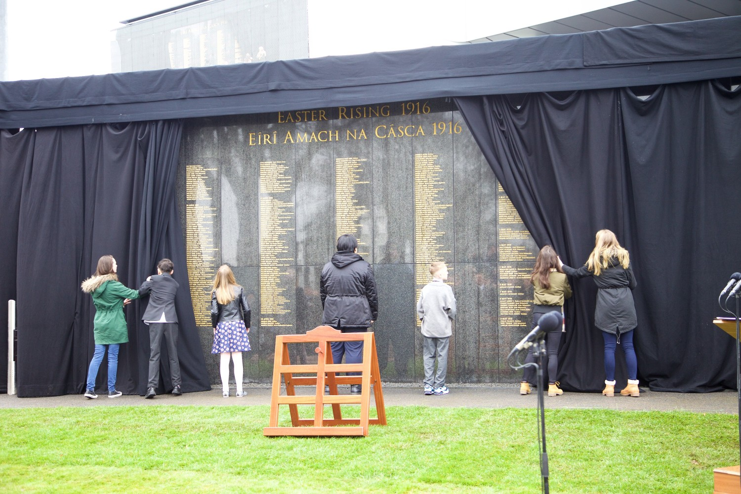 The Interfaith Service and Unveiling of Necrology Wall, Glasnevin Cemetery, Sunday 3 April 2016.