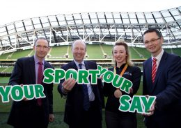 """Ministers invite stakeholders to have their say in new National Sports Policy Framework.  Picture a the launch were: Martin Hugh Michael O'Neill, manager of the Republic of Ireland national team The Minister for Transport, Tourism and Sport, Shane Ross TD  Ellen Keane, Paralympic Games World Championship bronze medalist. The Minister of State for Tourism and Sport, Patrick O'Donovan TD  The Minister for Transport, Tourism and Sport, Shane Ross TD and the Minister of State for Tourism and Sport, Patrick O'Donovan TD, today launched a public consultation process on the development of a new National Sports Policy Framework.   The aim of the consultation process is to give all stakeholders the opportunity to feed into the development of the new National Sports Policy. The policy will provide a framework for sport in Ireland over the next ten years and will set the agenda for Sport Ireland.   The public consultation process, along with relevant stakeholder engagement, will contribute to the delivery of the National Sports Policy.  Submissions are invited from all relevant stakeholders over the coming weeks and the Department of Transport, Tourism and Sport proposes, following the consultation process, to prepare a National Sports Policy for submission to Government.  The public consultation document addresses and raises questions under the following themes:   -          Contribution of sport -          Participation -          High Performance -          Local and Regional Facilities -          National Sports Campus -          Governance -          Coaching -          Volunteer engagement -          Safety in sport -          Integrity of sport and international influence -          Sport in a cross-sectorial context -          Outdoor recreation -          Sports Tourism -          Financing Irish sport -          Measuring the impact of sport Minister Ross said """"I am delighted to launch the public consultation for a new National Sports Policy Framework. This is a very"""