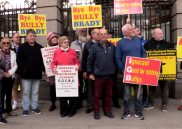 Protest against the closing of Harold's Cross Greyhound Stadium