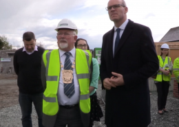 Minister Coveney visits Mayfield Park in Clondalkin