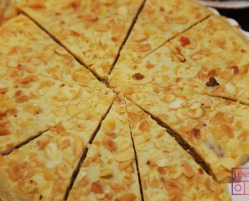 Almond Cake close up photograph
