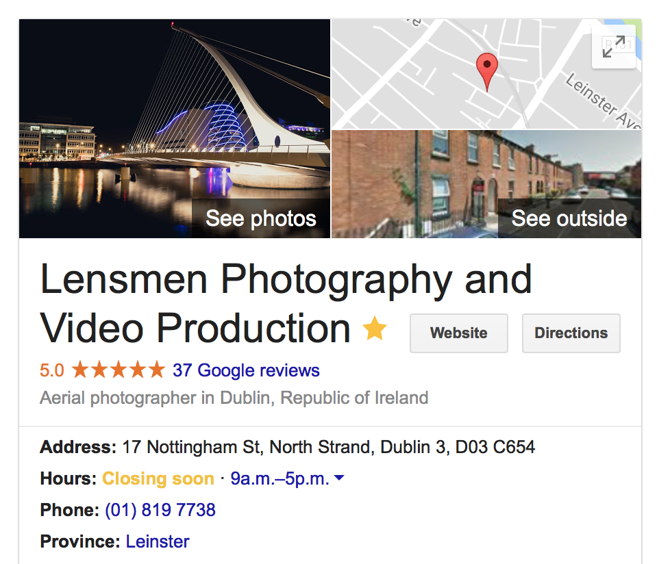Google My BusinessVideo Productions Company