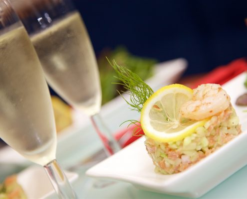Champagne & Hors d'oeuvre Food Photography