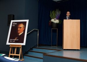 Press Photography John Redmond Stamp Unveiling