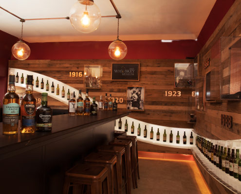 interior photograph Bar in the Irish Whiskey Museum