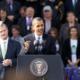 Political Photography Barrack Obama addressing Dublin