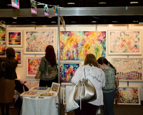 Event Photography Art fork on display