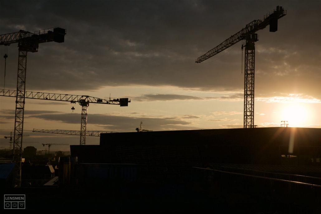 Construction Photography Cranes over Dublin