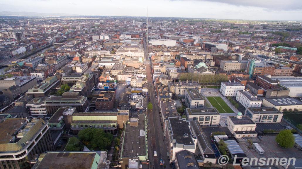 Drone Survey O'Connell Street Dublin