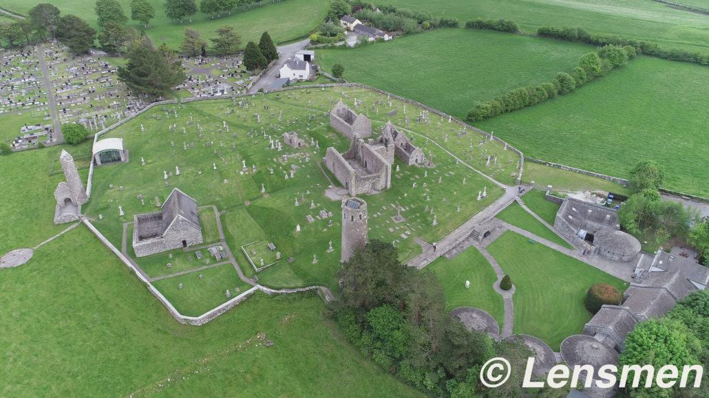 Drone View Clonmacnoise