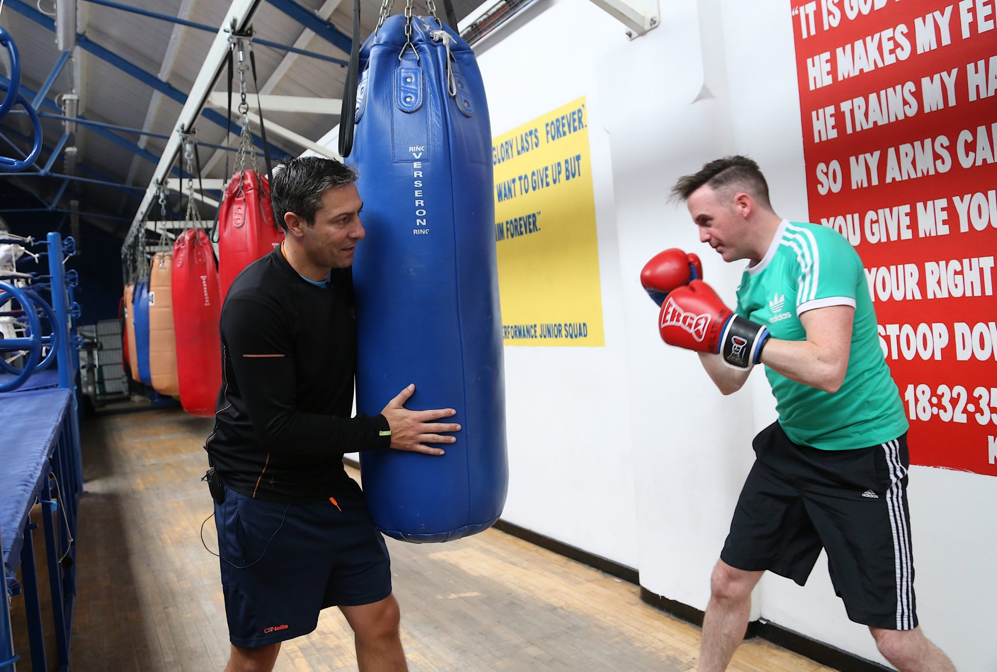 PR Photography Tom Neville training with Kenneth Egan