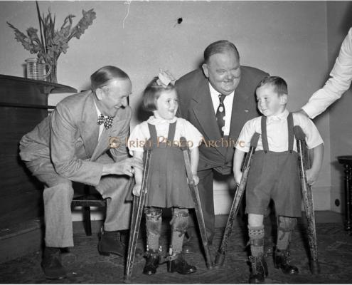 Laurel & Hardy Visit Polio Charity