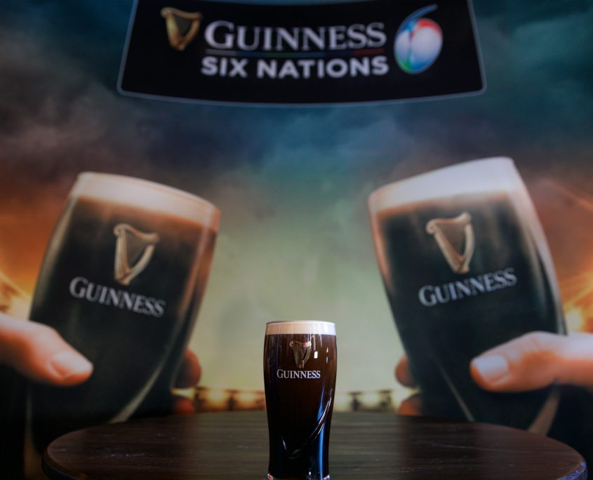 Guinness Pint at Six Nations Event