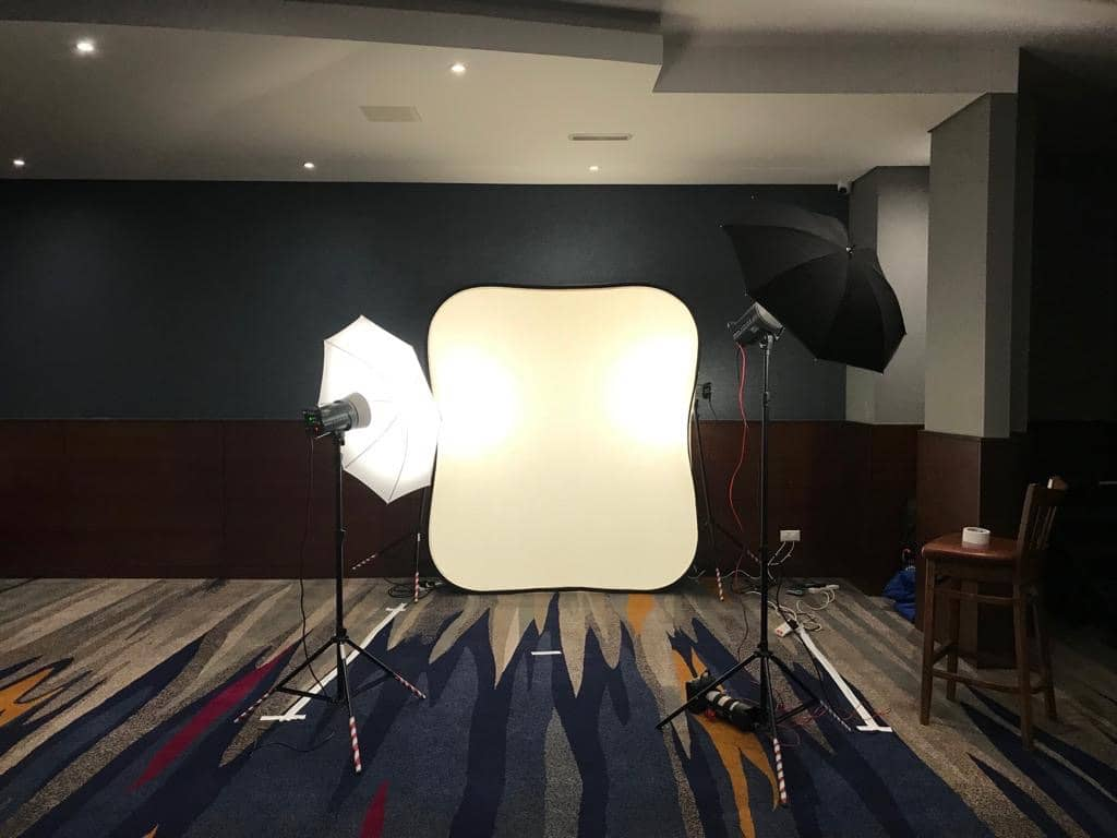Portable Studio for Headshots