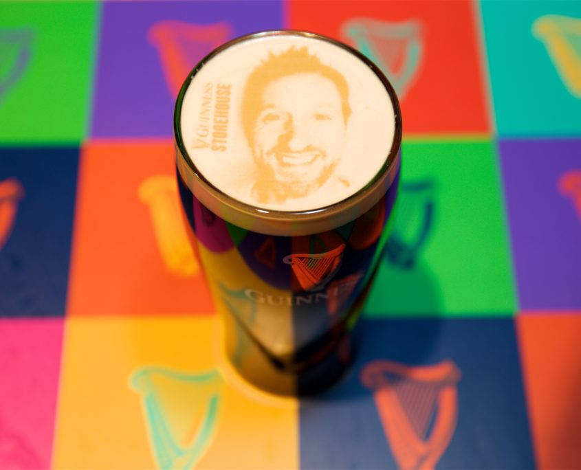 Will Greenwood Picture on Guinness Pint