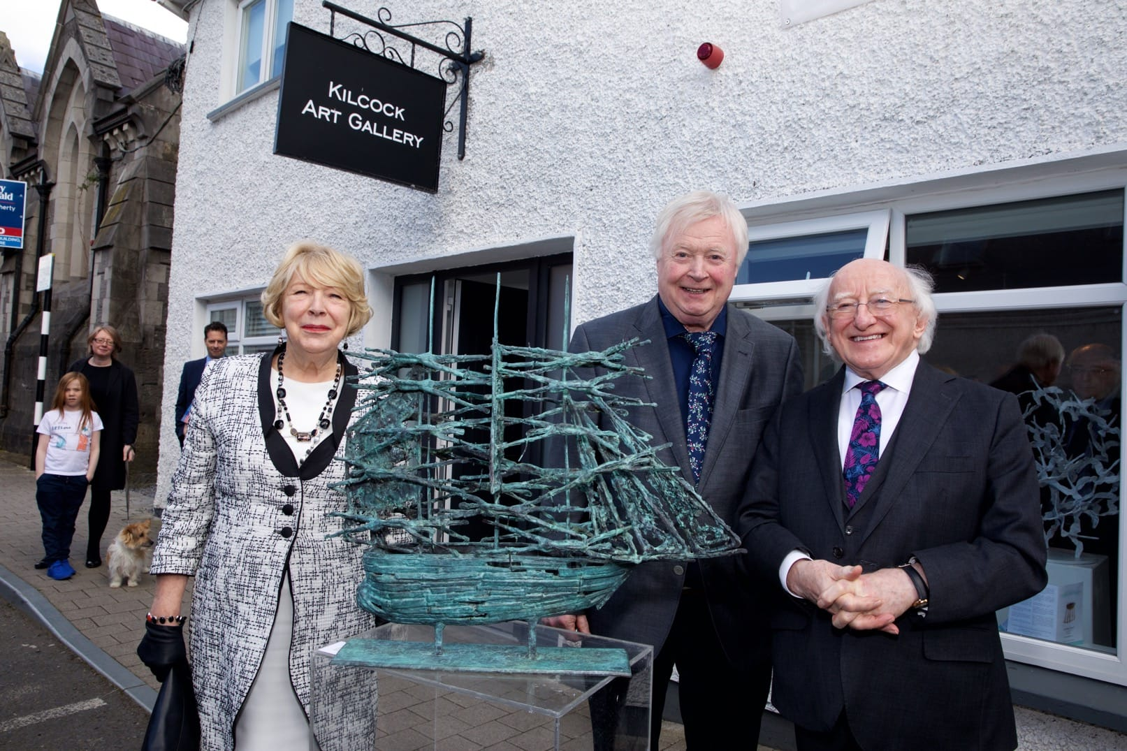 exhibition photography Michael D Higgins and John Behan